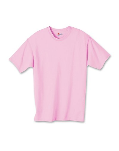 Hanes Authentic TAGLESS Kids' Cotton T-Shirt Pale Pink S