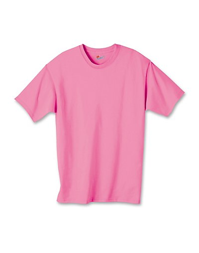 Hanes Authentic TAGLESS Kids' Cotton T-Shirt Pink M