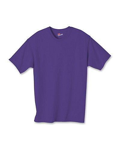 Hanes Authentic TAGLESS Kids' Cotton T-Shirt Purple M