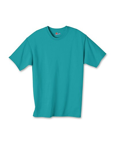 Hanes Authentic TAGLESS Kids' Cotton T-Shirt Teal M