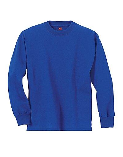 Hanes Youth ComfortSoft TAGLESS Long-Sleeve T-Shirt Deep Roy