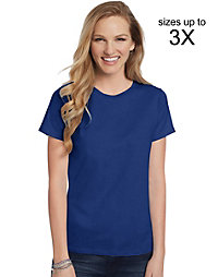 20% off Hanes with a $70+ Purchase of Hanes Products.                                  Hanes Women's Relaxed Fit Jersey ComfortSoft® Crewneck T-Shirt