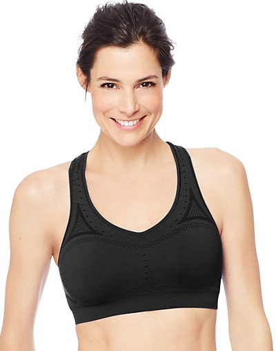 Click here for Hanes Women's Seamless Sports Bra Ebony M prices