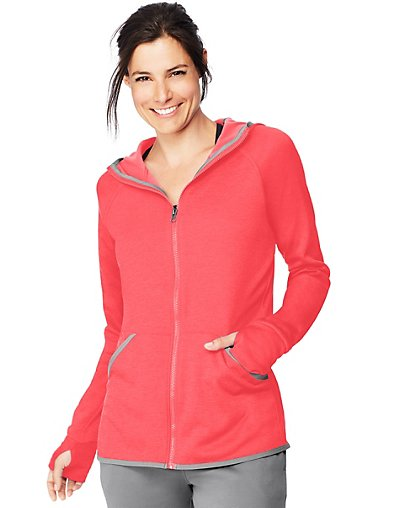 Hanes Sport3; Women's Performance Fleece Full Zip Hoodie Raz