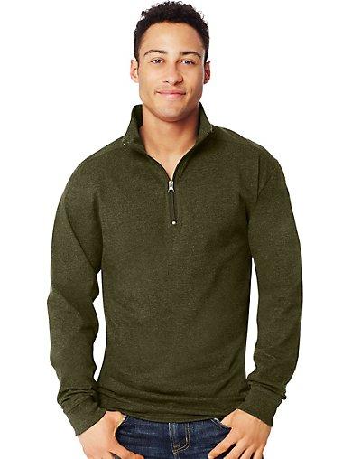 Hanes X-Temp Men's 1/4 Zip Long-Sleeve T-Shirt Camouflage Gr