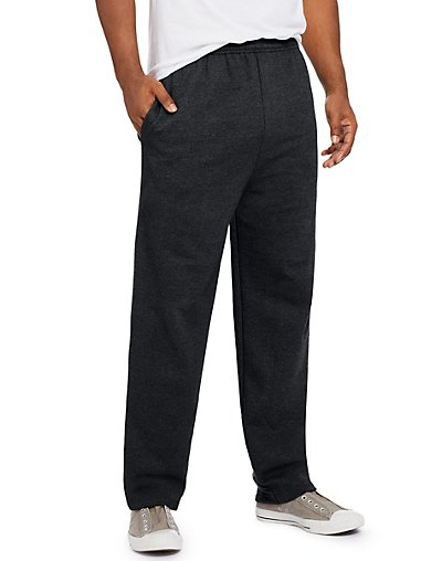 Hanes ComfortSoft3; EcoSmart Men's Fleece Sweatpants Black L