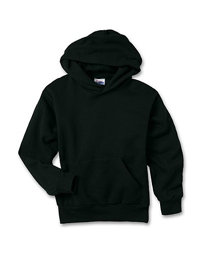 Hanes Youth ComfortBlend EcoSmart Pullover Hoodie Black XL
