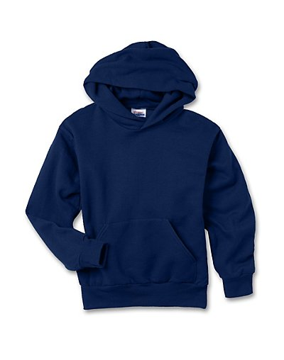 Hanes Youth ComfortBlend EcoSmart Pullover Hoodie Navy XS