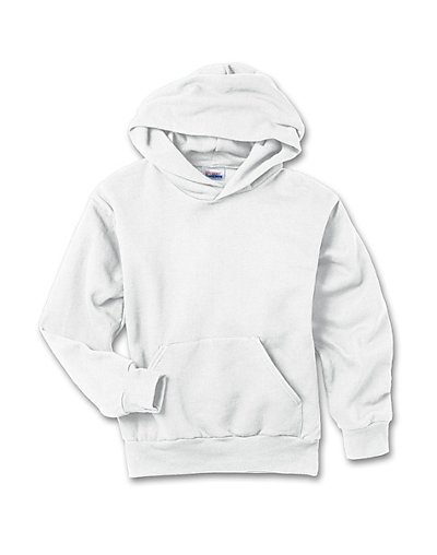 Hanes Youth ComfortBlend EcoSmart Pullover Hoodie White XL