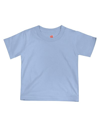 Hanes ComfortSoft Crewneck Toddler T-Shirt Light Blue 3T