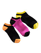 Hanes Women's Low-Cut Neon Socks 3-Pack