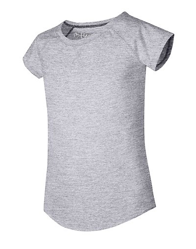 Hanes Girls' X-Temp V-Notch Tee Light Steel S