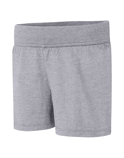 Hanes Girls' Jersey Short Light Steel XL