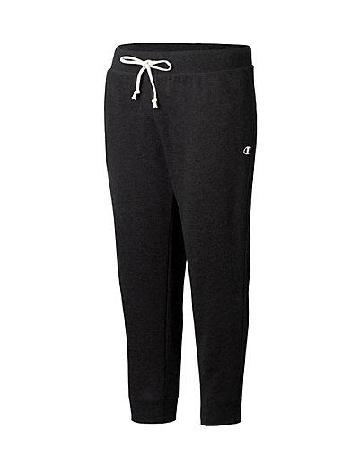 Champion Women's Plus French Terry Jogger Pants Black 1X