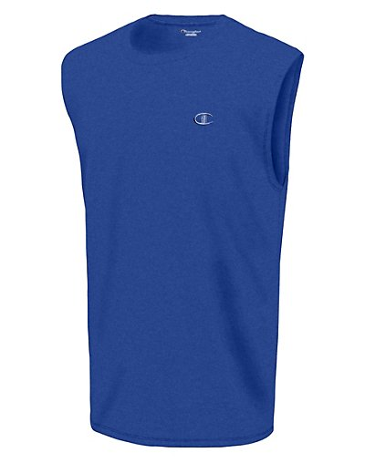 Champion Men's Classic Cotton Muscle Tee Surf The Web M