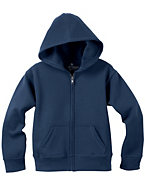Hanes Girls' Solid Full-Zip Hoodie Sweatshirt