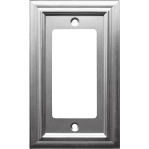 Continental Single Rocker GFI Wall Plate Satin Nickel 94RN by AmerTac
