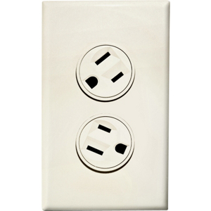 Rotating Duplex Outlet Ivory 36011V by 360 Electrical