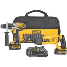 20-Volt MAX Li-Ion Hammerdrill and Reciprocating Saw Combo Kit DCK292L2 by DeWalt
