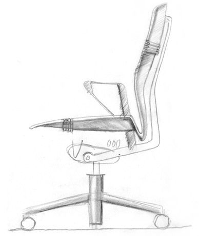 Early Embody Chair sketch