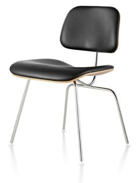Eames Molded Plywood Dining Chair with Metal Base