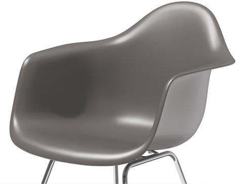 Eames Molded Plastic Armchair with 4-Leg Base