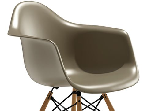 Eames Molded Plastic Armchair with Wood Dowel Base Modern