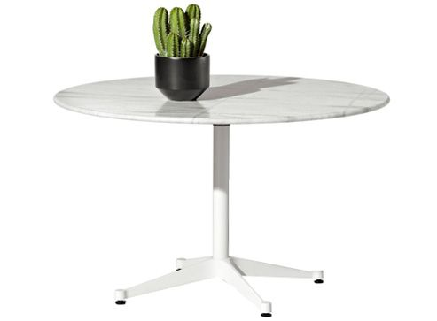 Eames Table with Round Top and Contract Base, Outdoor