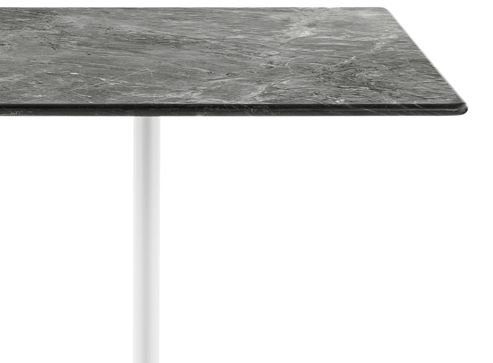 Eames Table with Square Top and Contract Base, Outdoor
