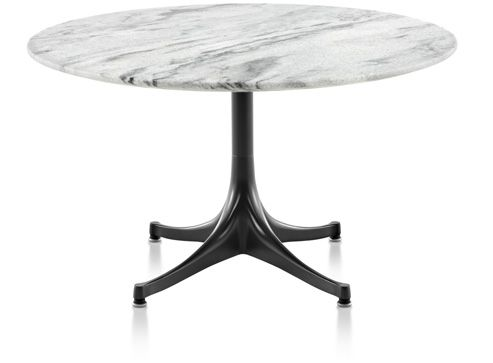Nelson Pedestal Table, Outdoor