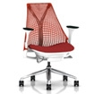 Sayl Chair with Red Back and Seat
