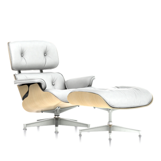 37 quick view eames lounge chair and ottoman white ash 6
