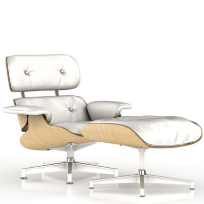 eames lounge chair and ottoman white ash old embrace tranquility herman miller official store - Eames Lounge Chair And Ottoman