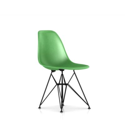 Eames Molded Fiberglass Upholstered Side Chair