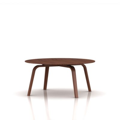 eames molded plywood coffee table wood base - coffee tables