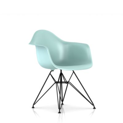 Eames Molded Plastic Upholstered Armchair