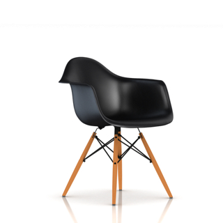 Eames Molded Plastic Armchair with Wood Dowel Base