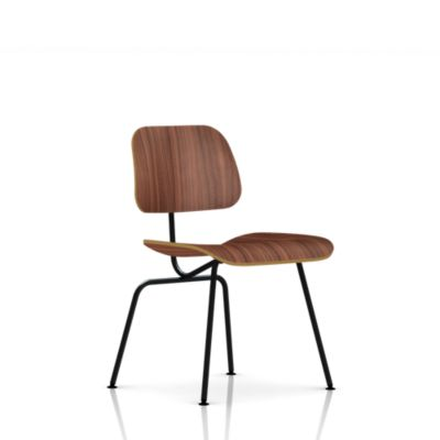 Eames Molded Plywood Dining Chair Metal Base Lounge Living