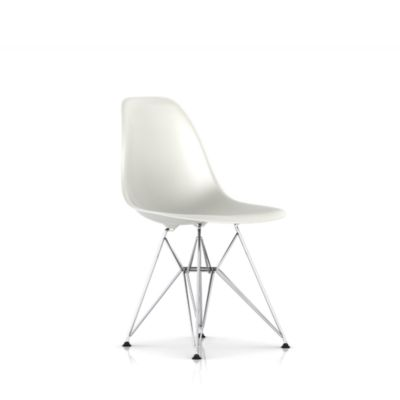 Eames Molded Plastic Upholstered Side Chair