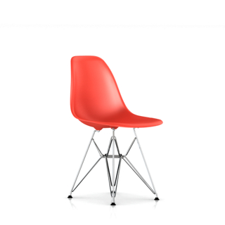 Eames Molded Plastic Side Chair with Wire Base