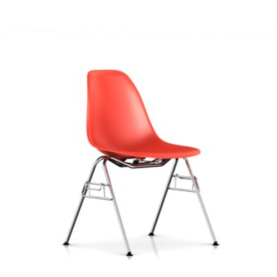 Herman Miller Eames Molded Plastic Chair eames molded plastic side chair with stacking base - stacking