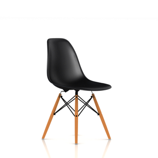 Eames Molded Plastic Side Chair with Wood Dowel Base