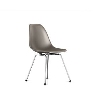 Eames Molded Plastic Side Chair with 4-leg Base