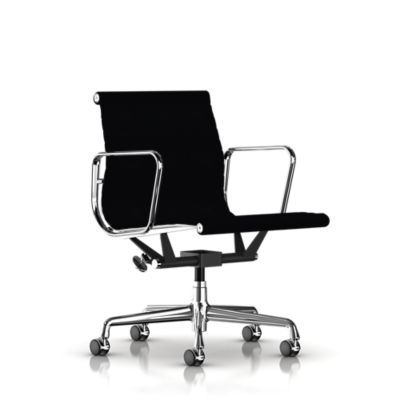 eames aluminum group management chair executive chairs chairs herman miller official store - Black Chair