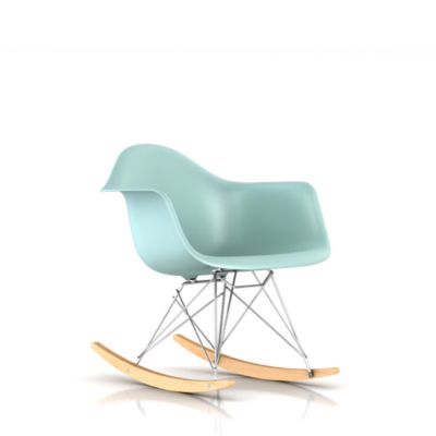 eames molded plastic armchair rocker base lounge living chairs