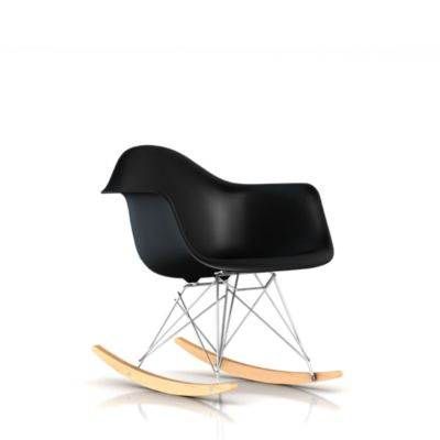 Eames Molded Plastic Upholstered Armchair Rocker Base
