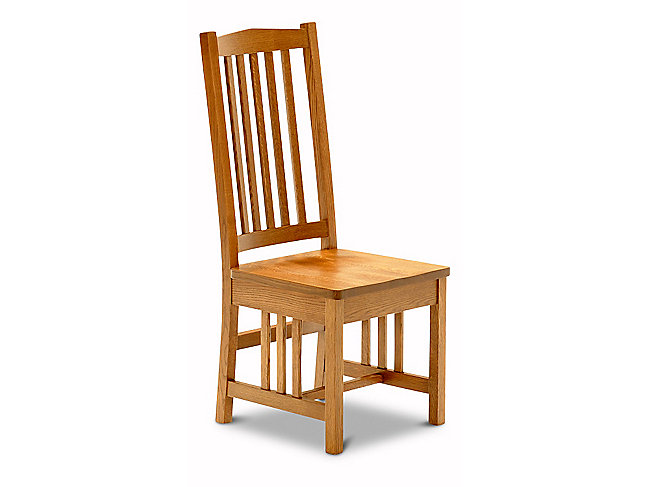 Amish mission side chair