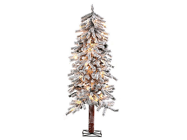 Alpine Tree 4 Foot Pre-lit Artificial Christmas Tree Clear Lights