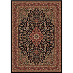 "5'3"" x 7'7"" Medallion Black Rug"
