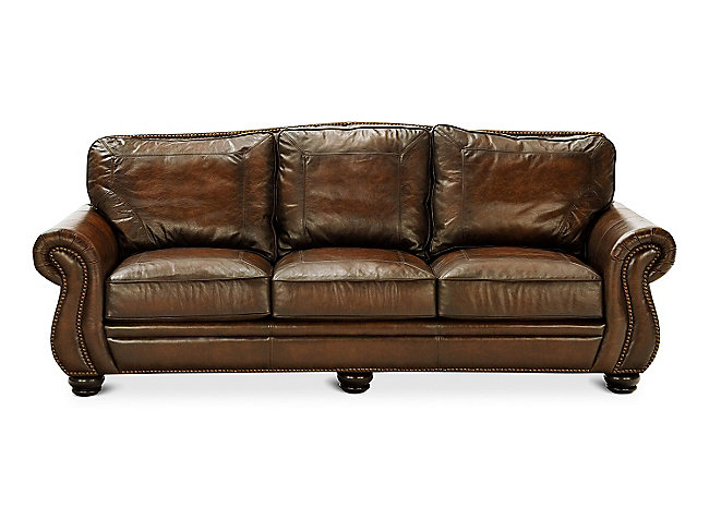 "100"" Breckenridge Leather Sofa by Bernhardt"